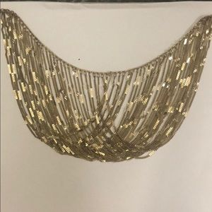 Gold Chain Loop Necklace
